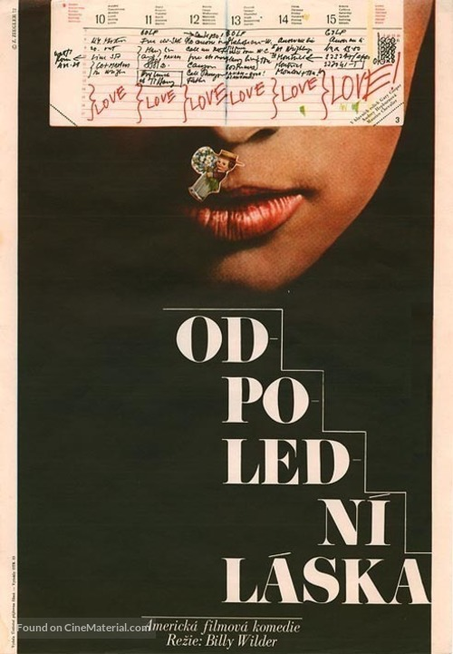 Love in the Afternoon - Czech Movie Poster