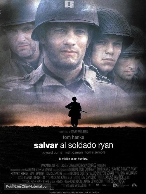 Saving Private Ryan - Spanish Movie Poster