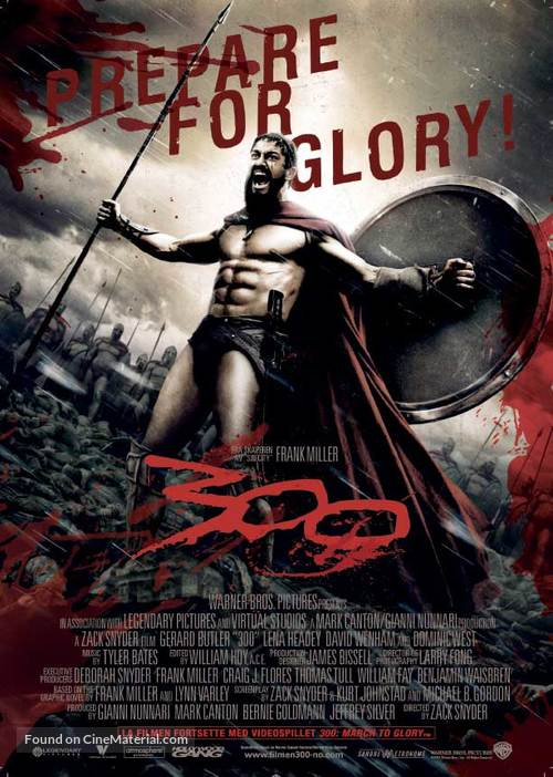 300 - Norwegian Movie Poster