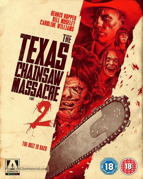 The Texas Chainsaw Massacre 2 - British Blu-Ray movie cover
