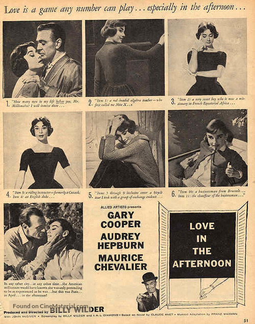 Love in the Afternoon - poster