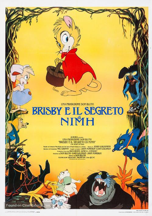 The Secret of NIMH - Italian Movie Poster