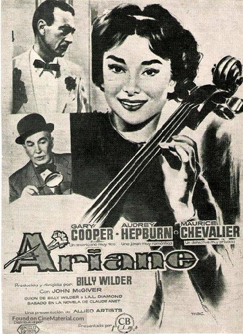 Love in the Afternoon - Spanish Movie Poster