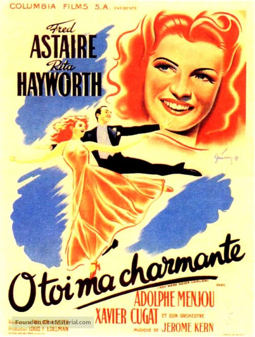 You Were Never Lovelier - French Movie Poster