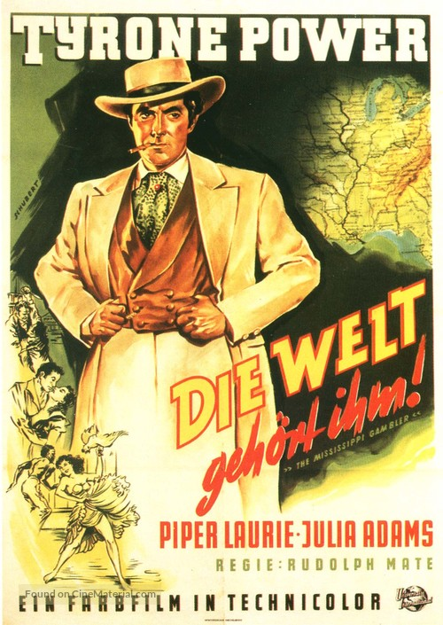 The Mississippi Gambler - German Movie Poster