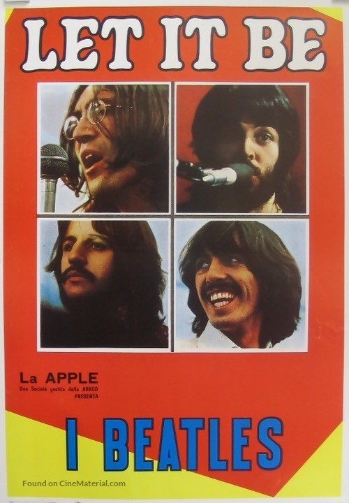 Let It Be - Italian Movie Poster