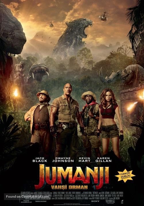 Jumanji: Welcome to the Jungle - Turkish Movie Poster