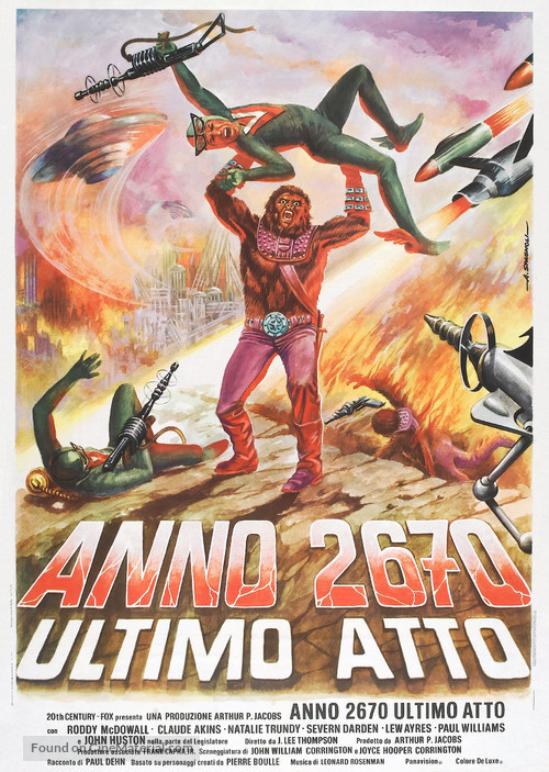 Battle for the Planet of the Apes - Italian Movie Poster