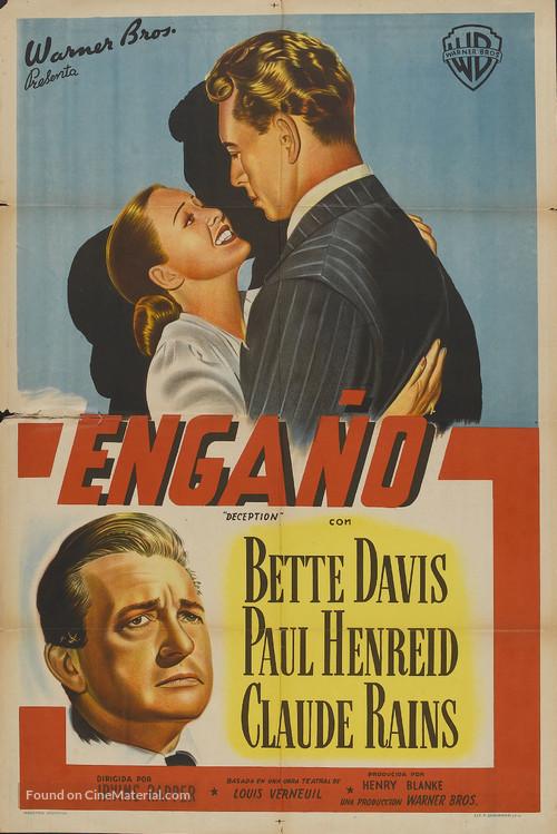 Deception - Argentinian Movie Poster