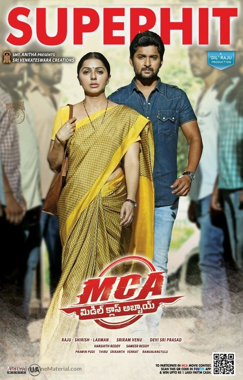 MCA Middle Class Abbayi (2017) 720p 1.6GB UNCUT HDRip [Hindi DD 2.0 – Telugu 2.0] ESubs MKV