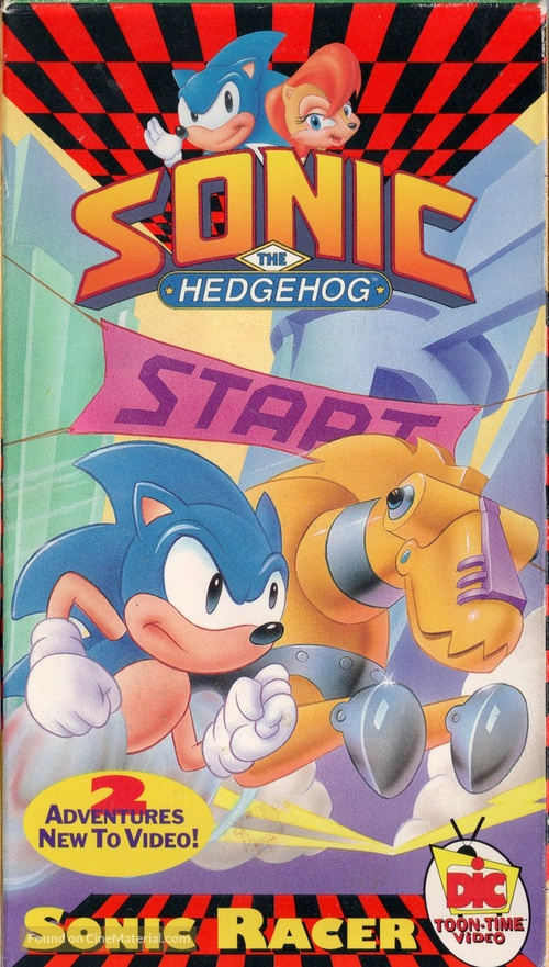 """Adventures of Sonic the Hedgehog"" - VHS movie cover"