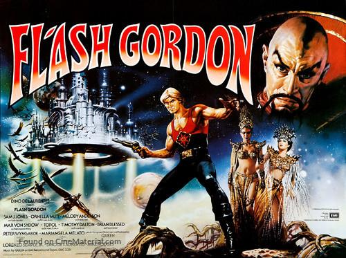 Flash Gordon - British Theatrical movie poster