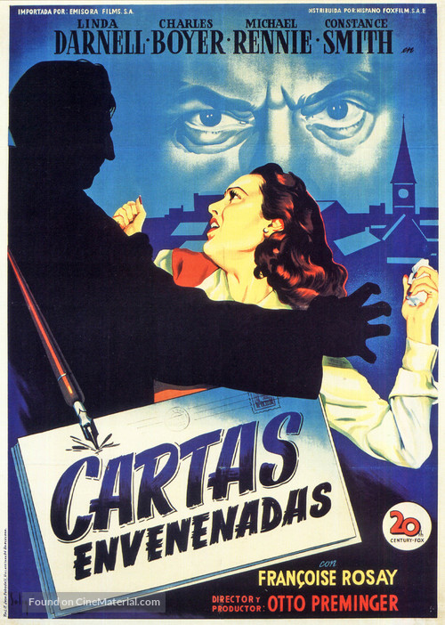 The 13th Letter - Spanish Movie Poster
