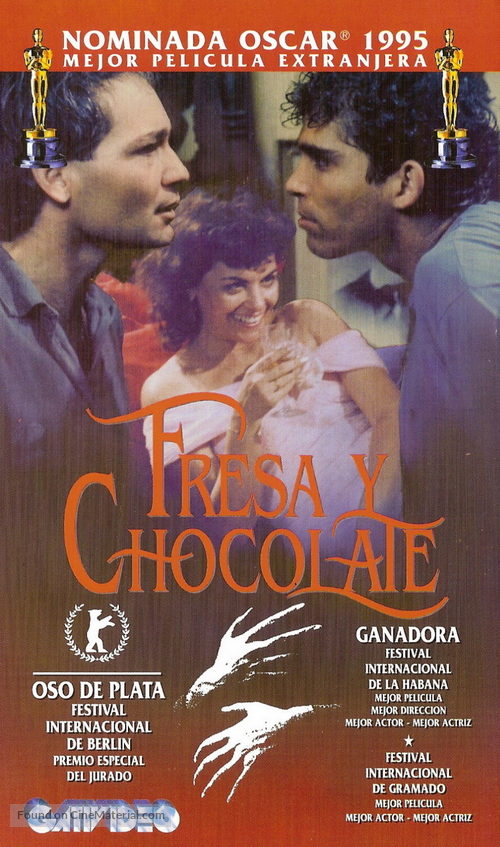 Fresa y chocolate - Argentinian VHS movie cover