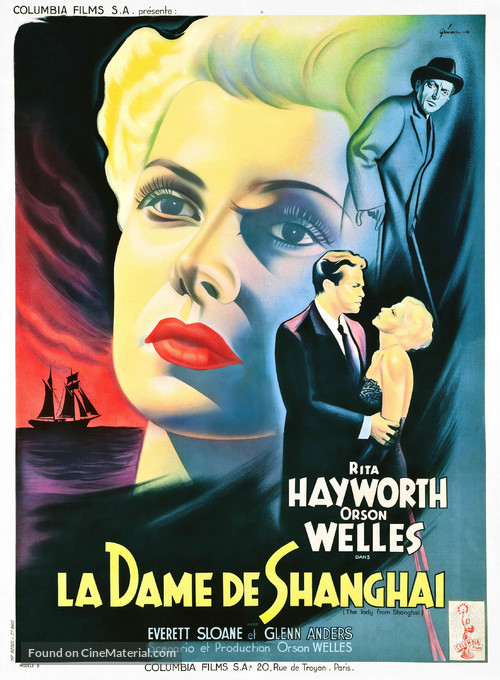 The Lady from Shanghai - French Movie Poster