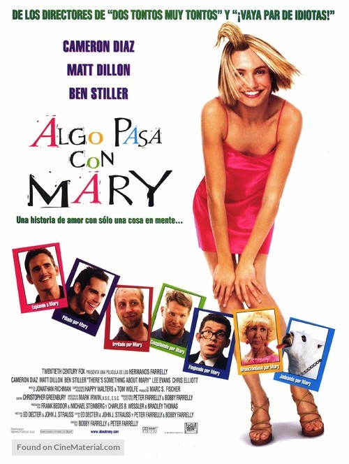 There S Something About Mary 1998 Spanish Movie Poster
