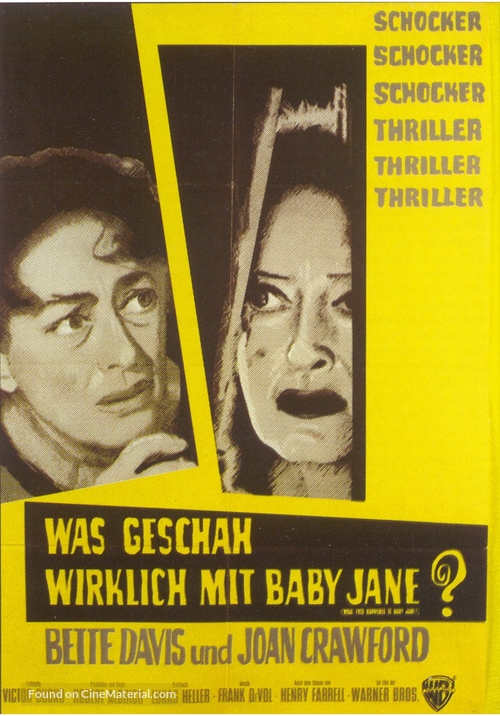 What Ever Happened to Baby Jane? - German Movie Poster