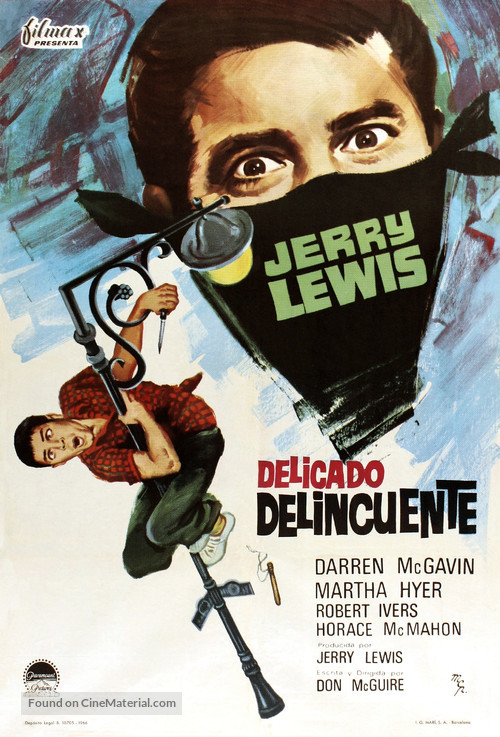 The Delicate Delinquent - Spanish Movie Poster