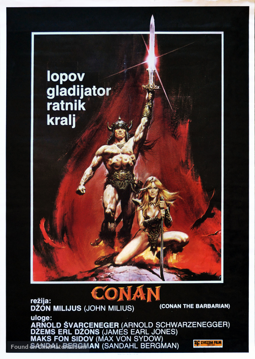 Conan The Barbarian - Yugoslav Movie Poster
