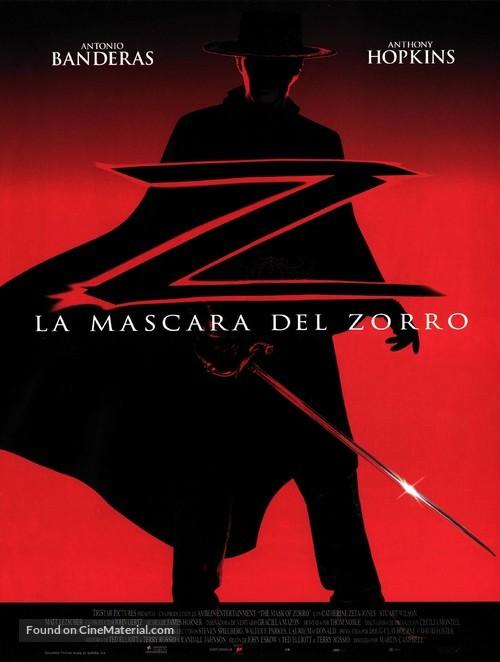 The Mask Of Zorro - Spanish Movie Poster