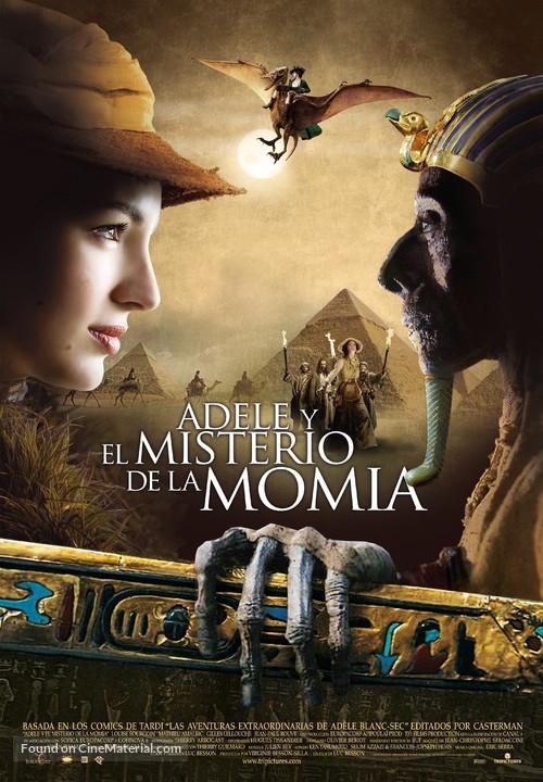 Les aventures extraordinaires d'Adèle Blanc-Sec - Spanish Movie Poster