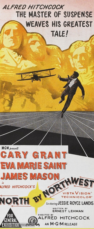 North by Northwest - Australian Movie Poster