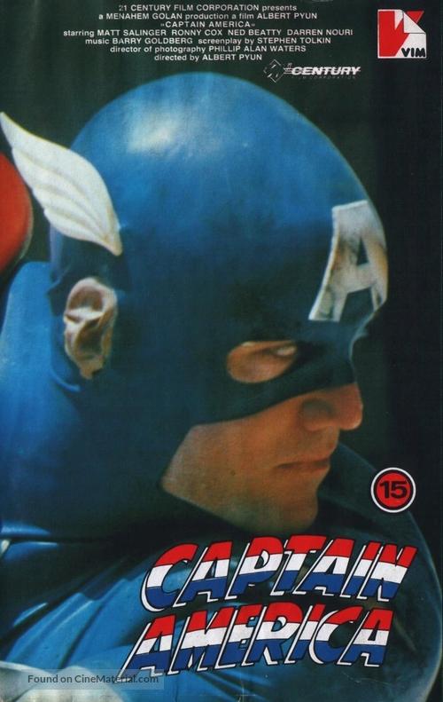 Captain America - Polish VHS movie cover