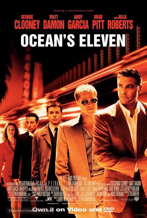Ocean's Eleven - Video release movie poster