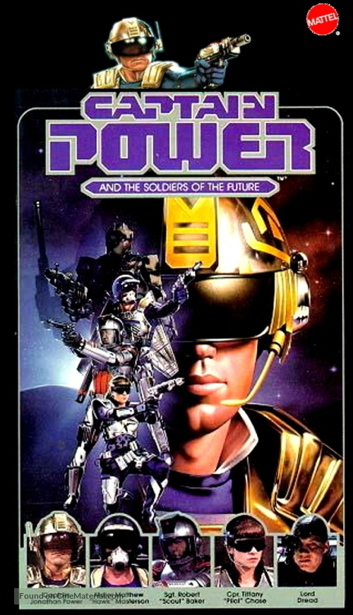 """""""Captain Power and the Soldiers of the Future"""" - VHS movie cover"""