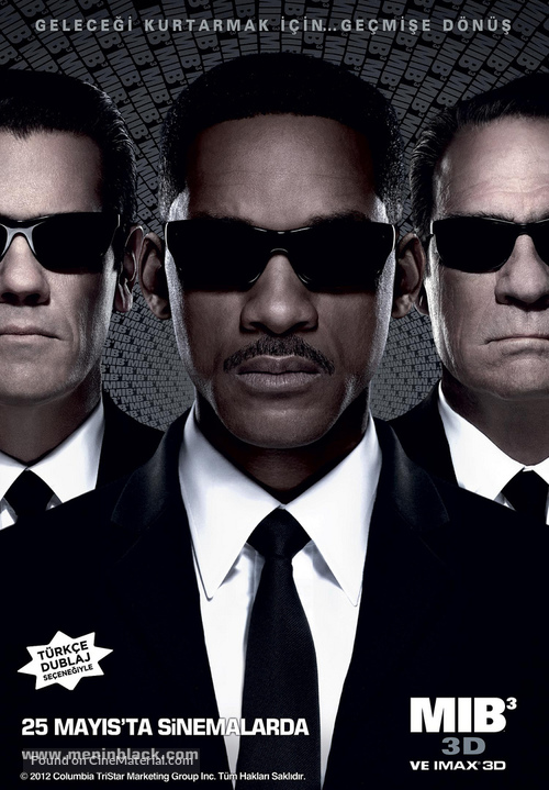 Men in Black 3 - Turkish Movie Poster