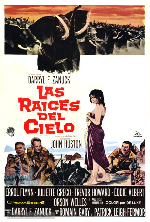 The Roots of Heaven - Spanish Movie Poster