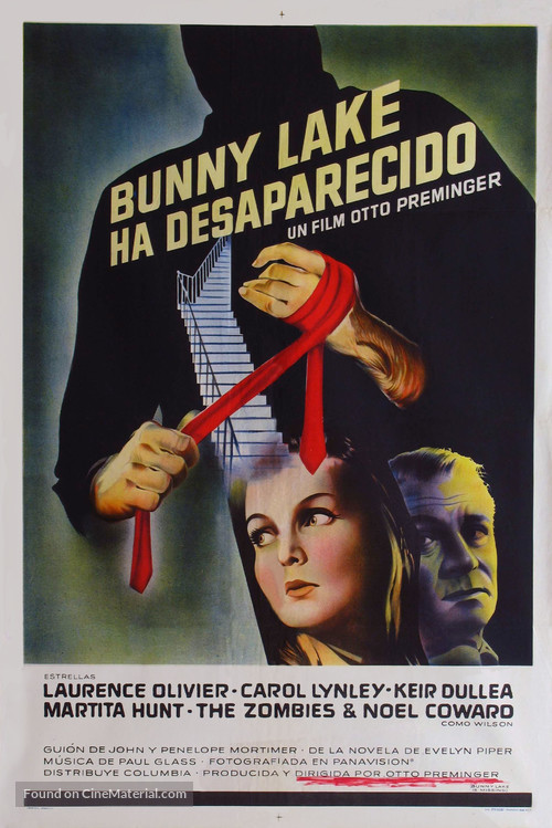 Bunny Lake Is Missing - Argentinian Movie Poster