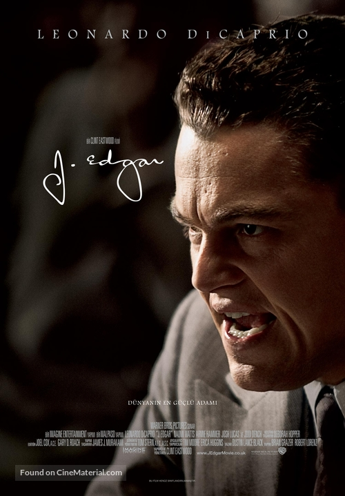 J. Edgar - Turkish Movie Poster