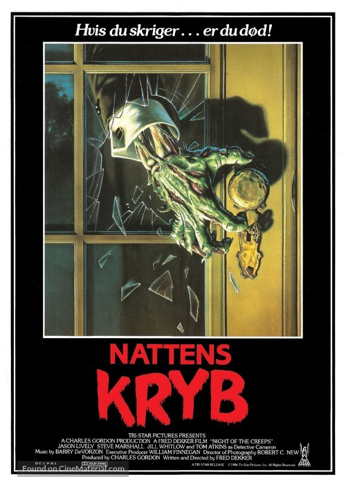 Night of the Creeps - Danish Movie Poster