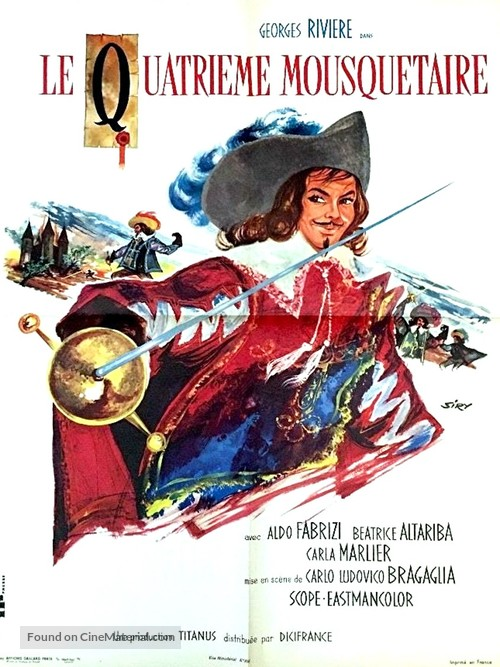 I quattro moschettieri - French Movie Poster