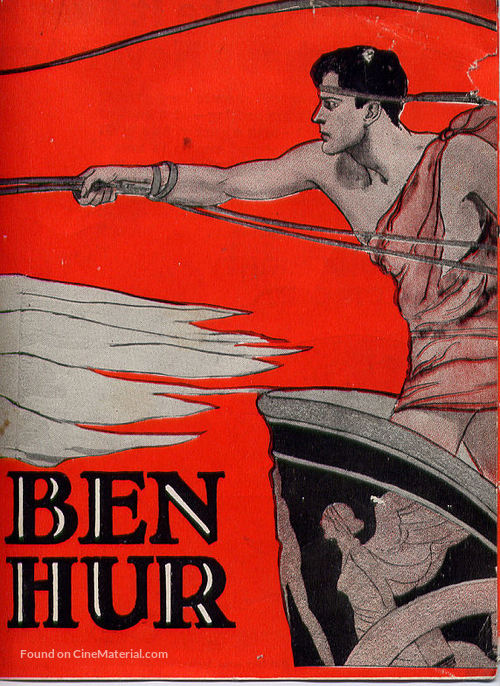 Ben hur silent movie poster 1925
