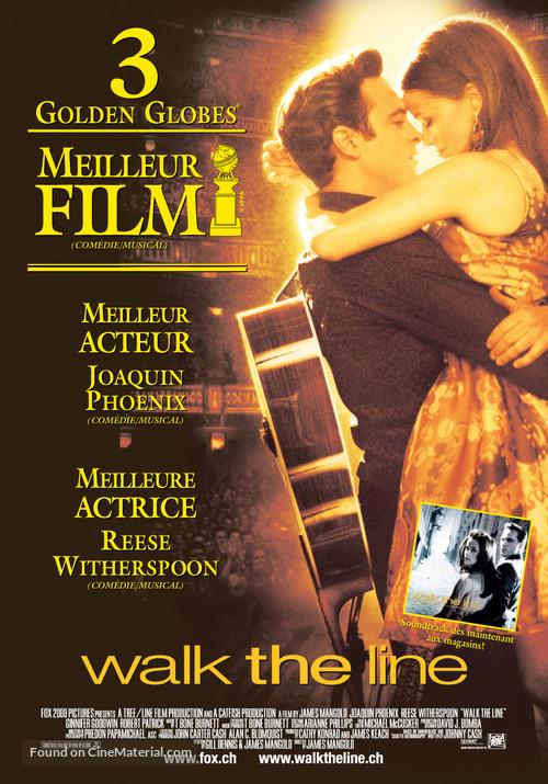 Walk the Line - Swiss Movie Poster