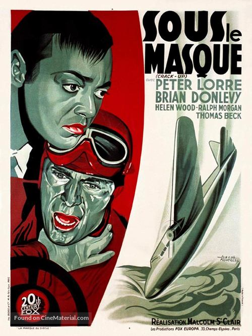 Crack-Up - French Movie Poster