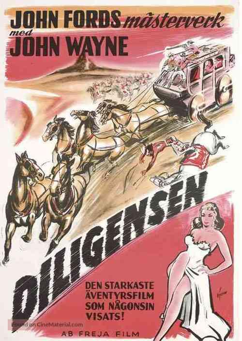 Stagecoach - Swedish Movie Poster