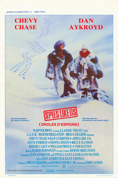 Spies Like Us - Belgian Movie Poster