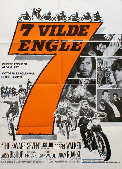 The Savage Seven - Danish Movie Poster
