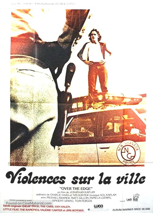 Over the Edge - French Movie Poster