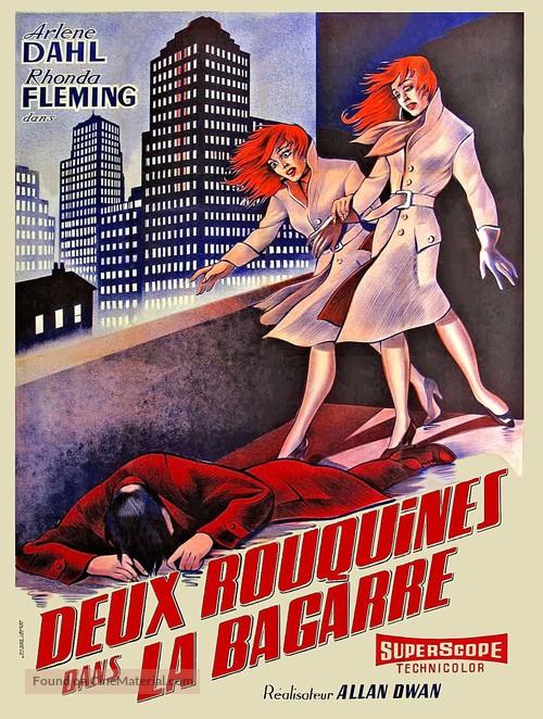 Slightly Scarlet - French Movie Poster