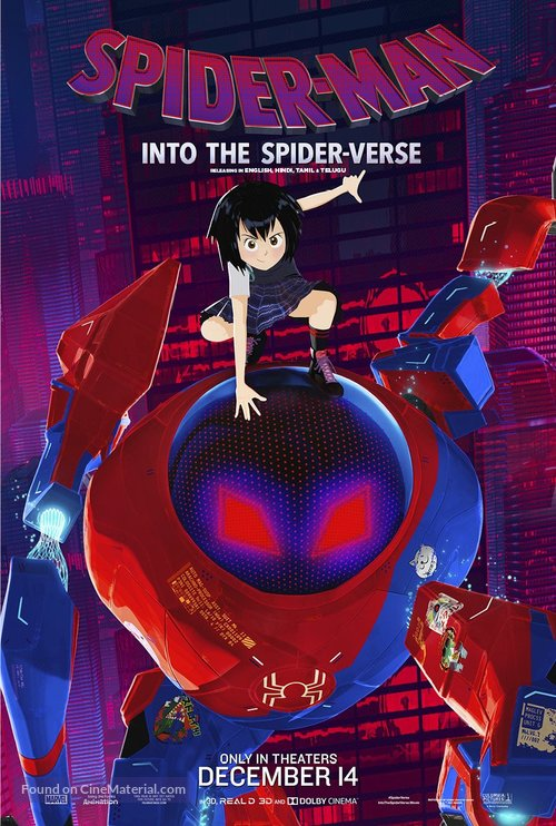 Spider-Man: Into the Spider-Verse - Indian Movie Poster