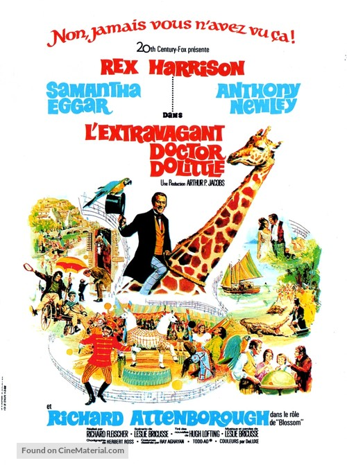 Doctor Dolittle - French Movie Poster