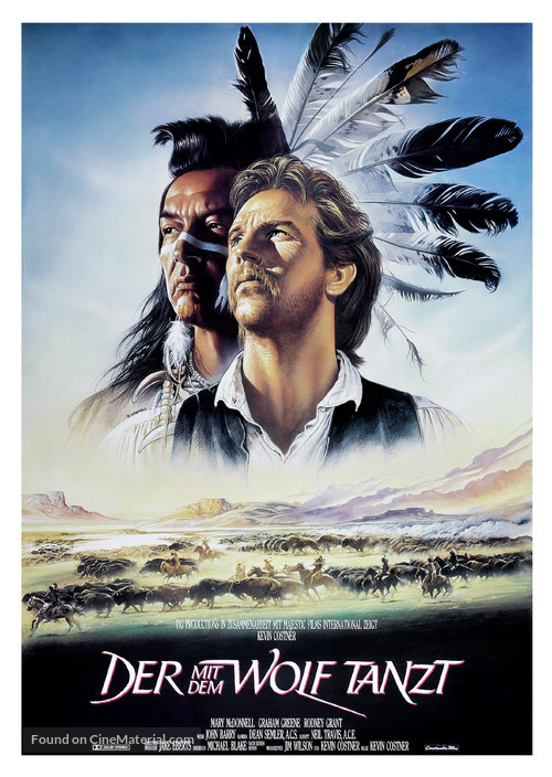 Dances with Wolves - German Movie Poster
