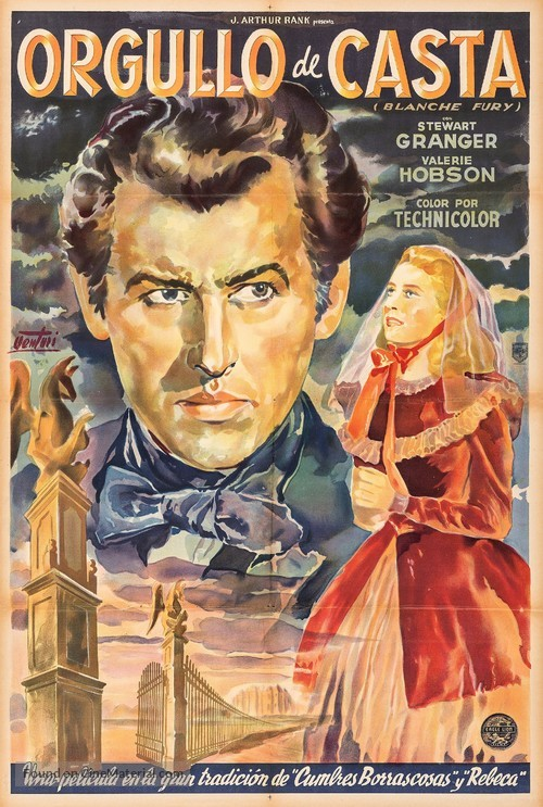 Blanche Fury - Argentinian Movie Poster