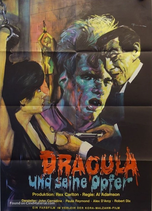 Blood of Dracula's Castle - German Movie Poster