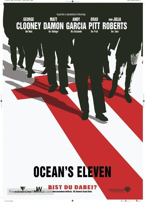 Ocean's Eleven - German Teaser movie poster