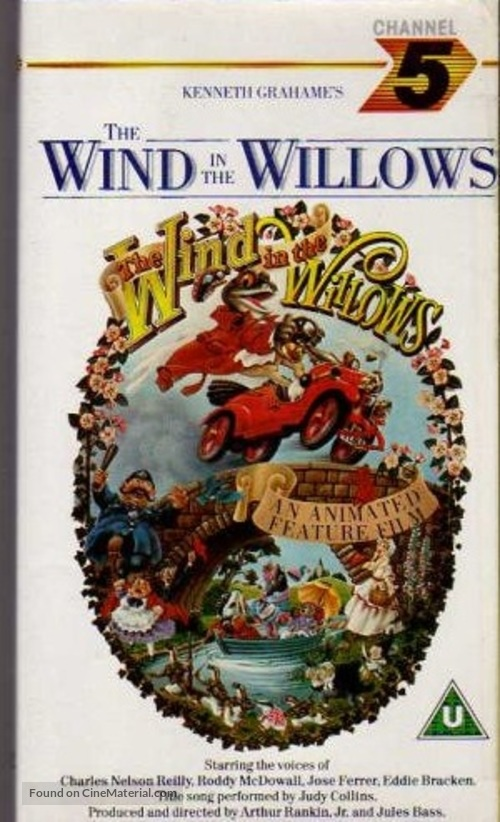 The Wind in the Willows - British VHS movie cover